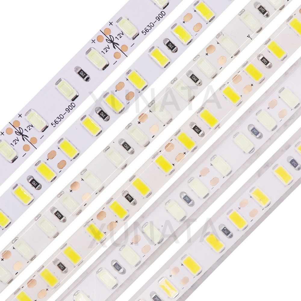IP21 IP65 IP67 Waterproof 5630 5730 SMD Led Strip Light 5M 120Leds/m 8mm PCB Flexible Led Ribbon Tape Lamp Home Decoration super bright 120leds m smd 5630 5730 led strip light flexible 5m 600 led tape dc 12v non waterproof tape lamp