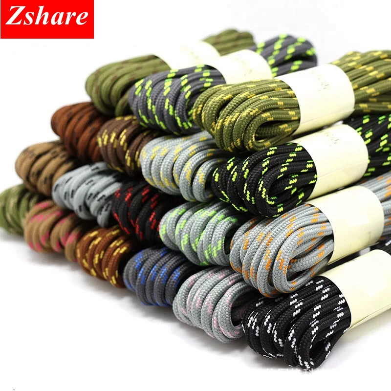 1Pair Outdoor Sport Shoelaces 19Colors Round Shoelaces Hiking Slip Rope Shoelace Sneakers Shoe Laces Strings 100/120/140/160CM