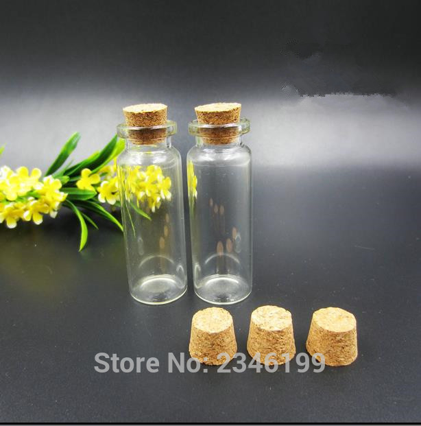 50pcs 15ML 20ML Amber Transparent Medical Glass Vials With Cork Stoppers Injection Bottl ...