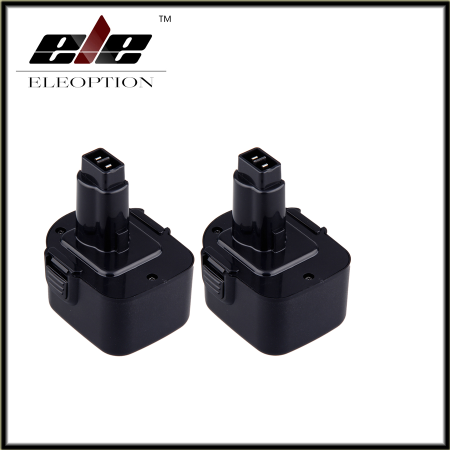 ФОТО 2pcs 12V Ni-MH 2500mAh Replacement Power Tool Rechargeable Battery for DEWALT DW9071 DC9071 DW9072 DW9074 152250-27 397745-01