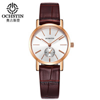 OCHSTIN Women Leather Quartz Watches Auto Date Fashion Casual Wrist Watch Femme Wristwatch Montres with sub Second Dial LQ017A