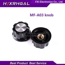 5 шт. шляпа MF-A03 Ручка потенциометра WH118/WX050 бакелитовой ручкой/медный сердечник внутреннее отверстие 6 мм