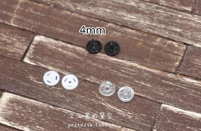 Free shipping 100pcs/lot wholesale BJD Doll clothing accessories mini button small buckles 4MM snap button deduction blyth azone 5pcs lot high quality 2 pin snap in on off position snap boat button switch 12v 110v 250v t1405 p0 5