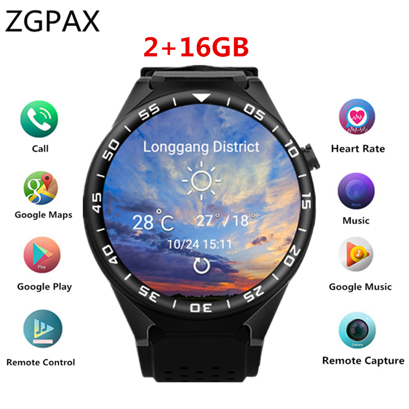 DEHWSG Smart Watch S99C For Samsung gear s3 with 2MP Camera 2GB RAM 16GB ROM SIM Card 3G WIFI GPS Smartwatch Heart rate monitor