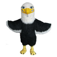 100% реальное изображение талисман Белоголовый Орлан талисмана плюшевые Орел Сокол Птица Hawk пользовательские тему аниме маскарадные костюм