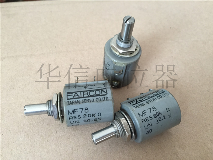 Quality assurance MF78 0.2% 20K 10 circle turn wirewound potentiometer shaft diameter 6MM (SWITCH) hellpot 7246 41 0 biaxial multi turn wirewound potentiometers 1k