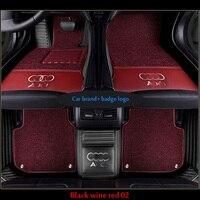Car floor mats fit Audi logo Q3 Q5 Q7 A1 A3 A4 A6LA7 A8 AVANT S3 S5 S6 S7 S8 R8 RS5 RS6 RS7 TT TTS PU leathe Carpet floor liner
