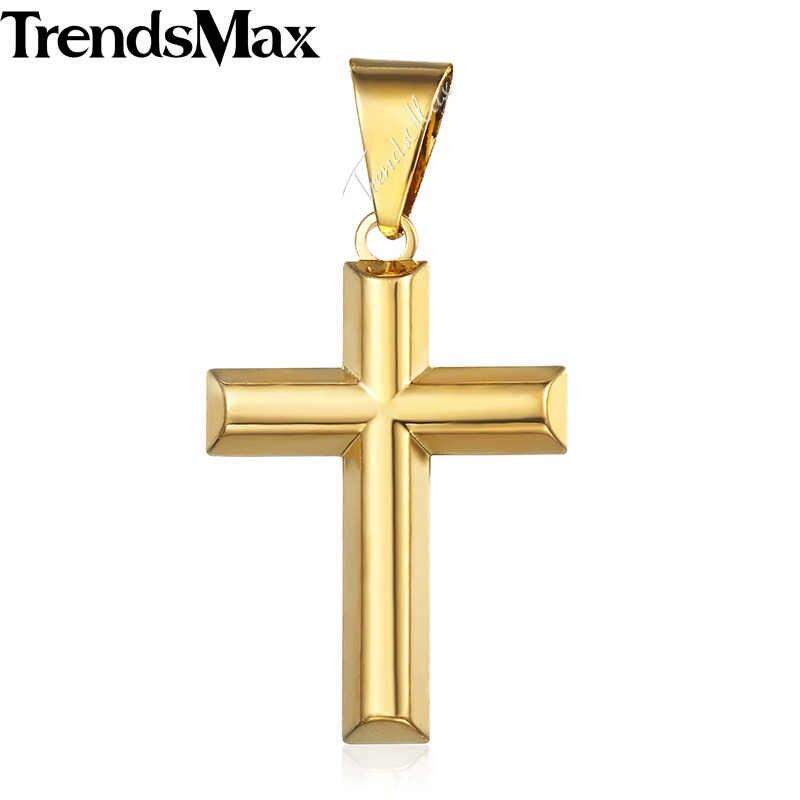 Krzyż wisiorek dla mężczyzn kobiety krucyfiks jezus złoty wypełniony Christian wisiorki mężczyzna kobieta biżuteria prezenty Dropshipping hurtownie GPP01