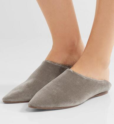 Drop Shipping 2017 Spring Fashion Women Hot Soild Gray Color Pointed Toe Slip On Casual Flat Shoes Popular Comfortable Shoes beyarne hot sale new fashion spring women flats shoes ladies bow pointed toe slip on flat women s shoes free shipping size34 40