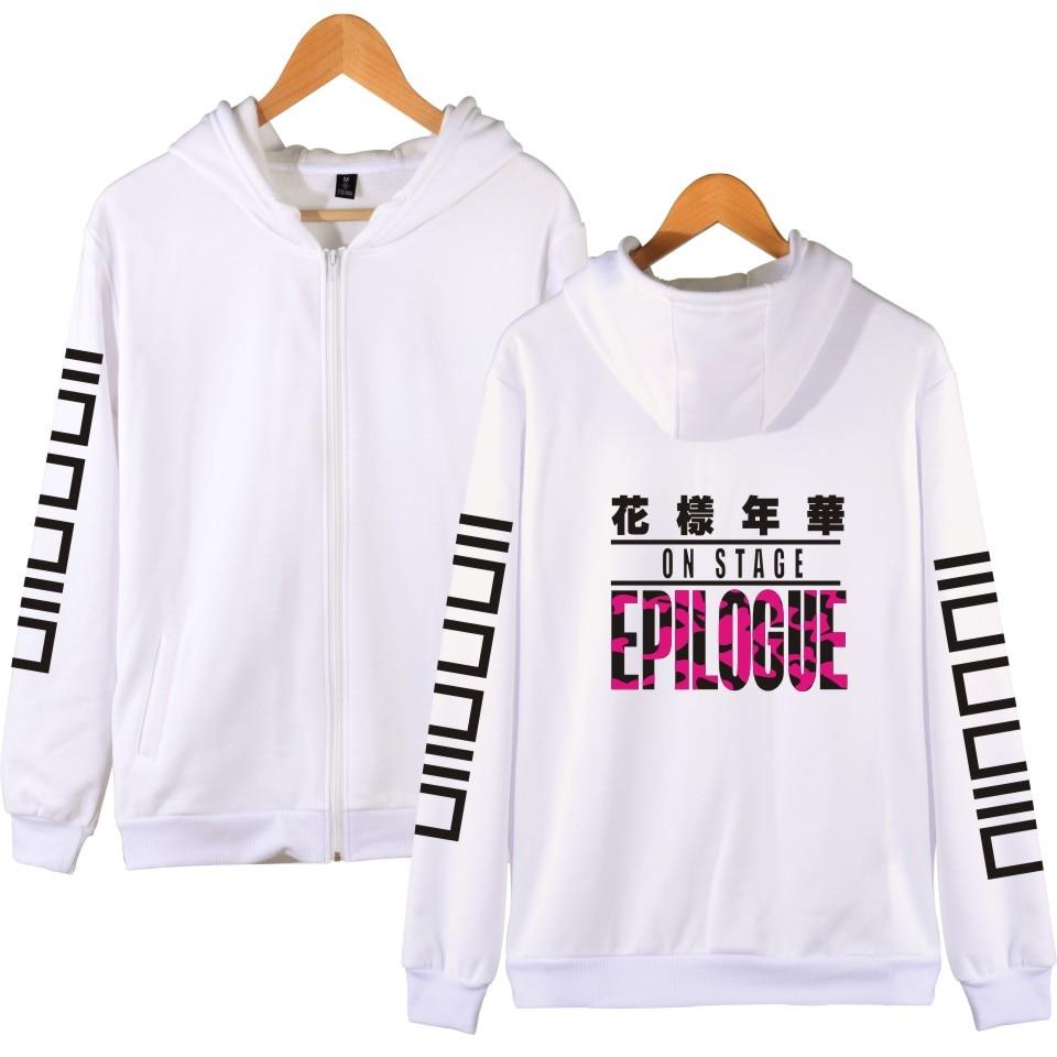 LUCKYFRIDAYF BTS K-pop Hooded Women Hoodies Zipper Korean Bangtan Hip Hop Winter Sweatshirt Women Cotton Casual Funny Clothe