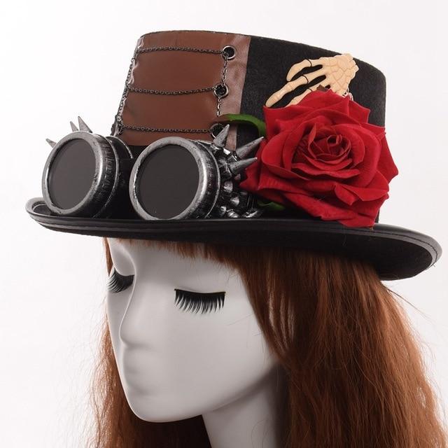 Шляпа в стиле стимпанк с очками в ассортименте вариант 6 5
