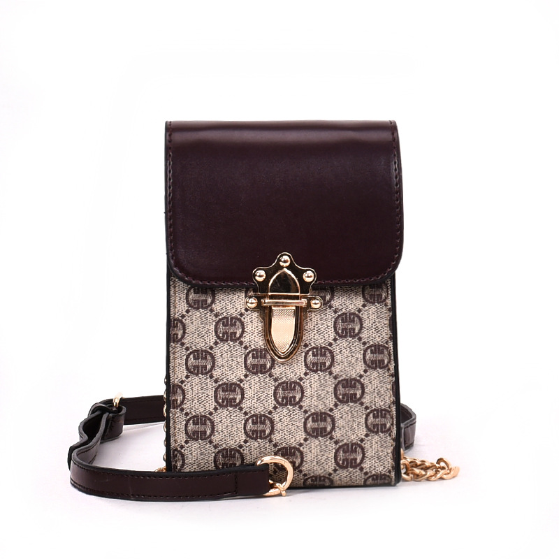 Impact Mini Bag 2018 Sumer Womens New Fashion Slanting Mobile Phone Bag Chain Single Shoulder Bag,printed Handbags Party Bag