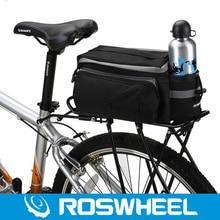 2016 Roswheel Bicycle Bags 6L Cycling Rack Bag Mountain Road Bike Rear Seat Bag Basket Panniers Bolsa Para Bicicleta Black