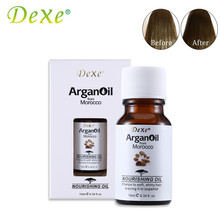 2pcs/lot Dexe 10ml Argan Oil Pure From Morocco Arganovoe Oil Moroccan Nourishing Oil Helps To Soft and Shiny Hair(China)