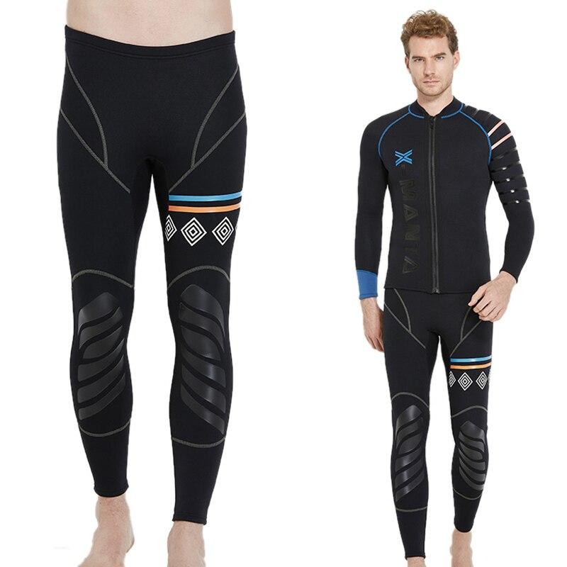 DIVE&SAIL 1.5MM-3MM Diving Pants Men Winter Keep Warm Neoprene Swim Pants for Swimming Surfing Snorkeling Rowing Sailing Surfing
