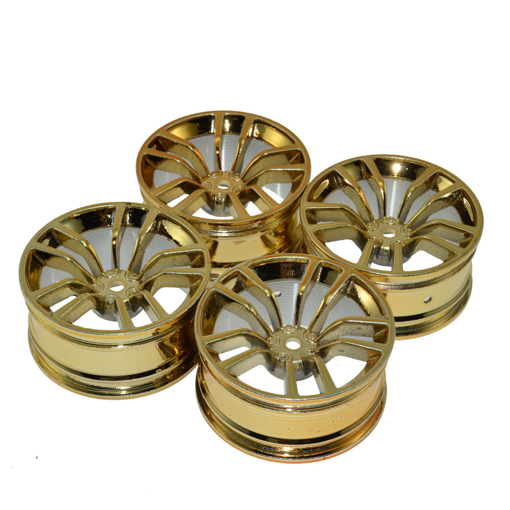 4Pcs RC Aluminum Alloy Wheels 12MM Hub for 1/10 HSP Tamiya Kyosho On-road  RC Car hsp wheels complete for 1 5 gasoline power on road racing car wheels set no 52034