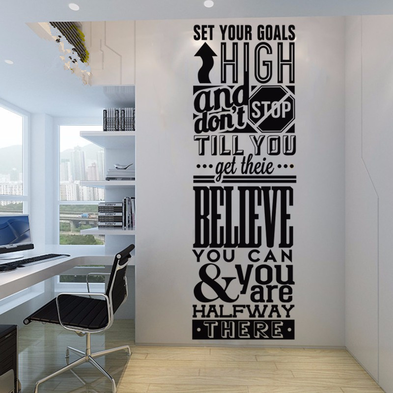 Beleive You Can Motivation Inspired Lettering <font><b>Office</b></font> Letter Wall Decal Quote Wall <font><b>Sticker</b></font> <font><b>Office</b></font> Wall <font><b>Sticker</b></font> Room Decoration