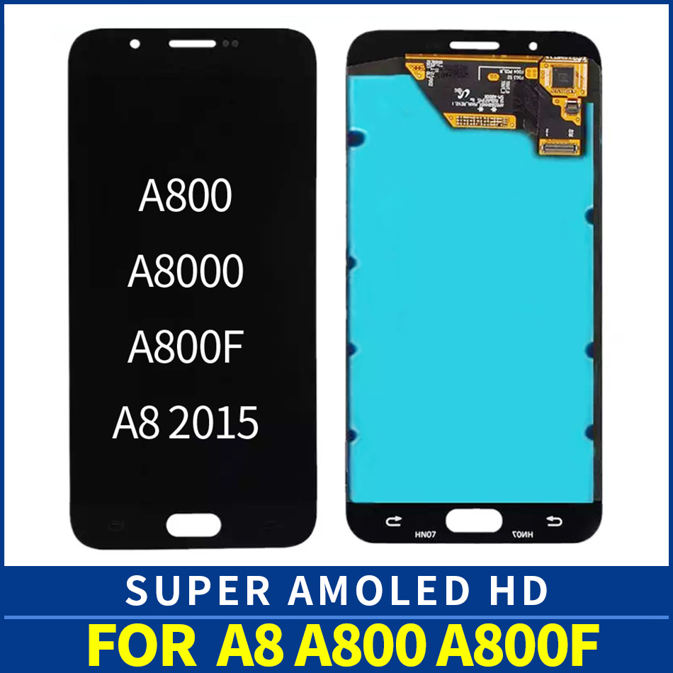 Original AMOLED A800F lcd SM A800F For Samsung A8 A8000 A800 LCD Display Touch Screen Digitizer Assembly Replacement A8 2015