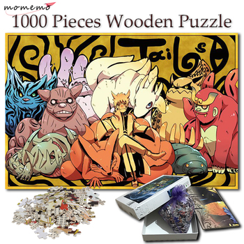 MOMEMO Puzzle 1000 Pieces Tailed Beasts Naruto Wooden Jigsaw Puzzles NARUTO Cartoon Anime Puzzle Games Toy for Kid Children Gift