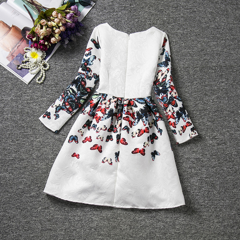 c8ac8dbee59b7 Teen Kids Girls Dress Butterfly Floral Print Clothes Children Casual School  Wear Long Sleeve Kids Girls Party Tutu Dresses 6-12Y