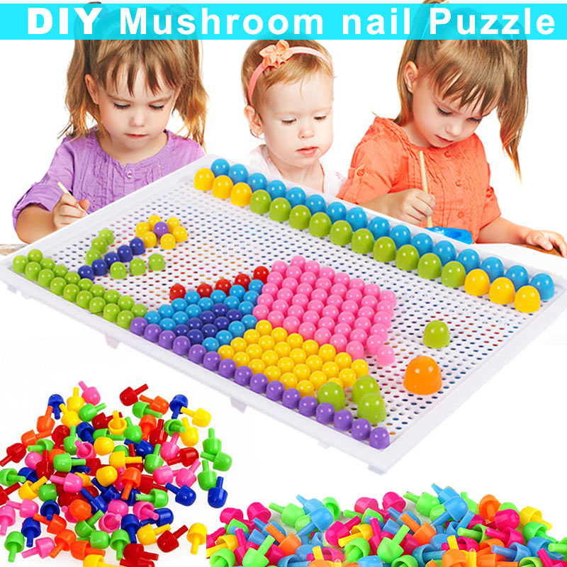 Children Toys Puzzle Peg Board With 96 Mushroom Pegs Model Kits Educational Building Toy For Kids Gift Random Color @ S7