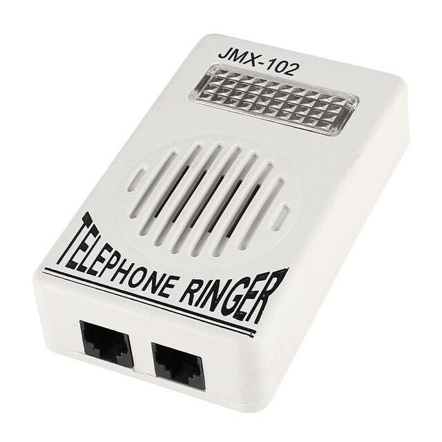 De plástico del hogar de teléfono amplificador de sonido RJ11 6P2C Ringer gris