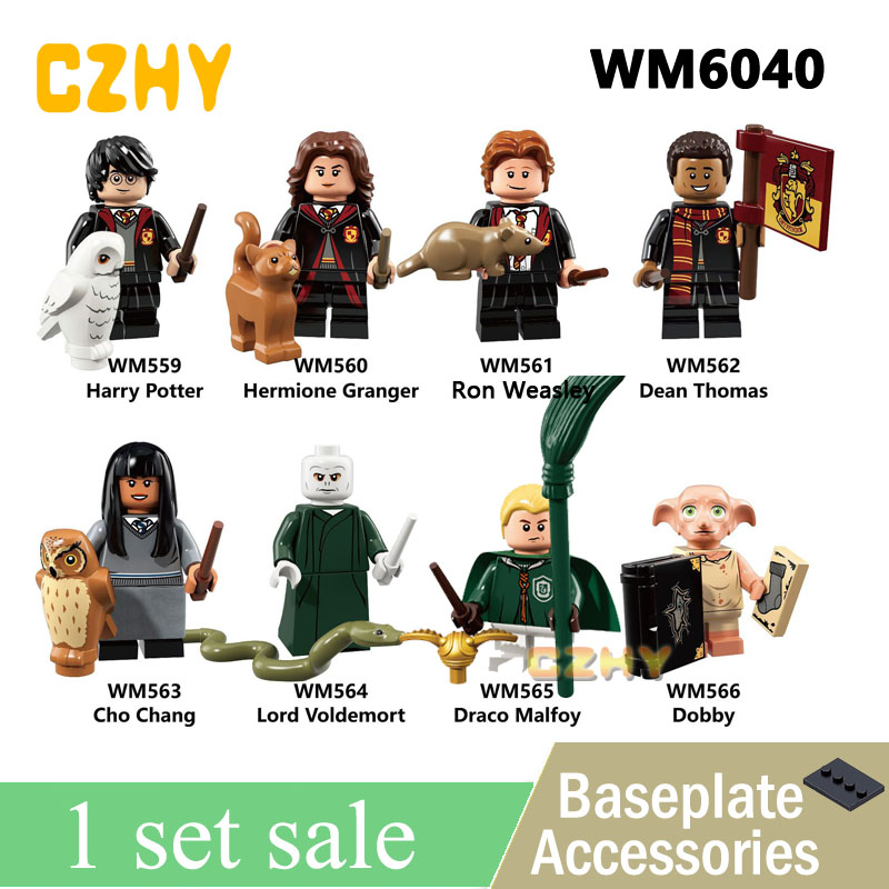 WM6040 Avec Légèreté La Chambre Des Secrets Hermione Ron Weasley Seigneur Voldemort Draco Malfoy Dobby blocs De Construction Pour enfants