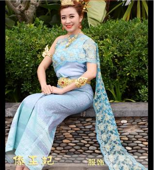 High Quality 2017 Dai clothing Thailand traditional clothing Woman Wedding dresses thailand