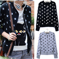 Coat Rushed Special Offer Formal Full O-neck Geometric Cotton Female Spring And Autumn All-match 2014 Cardigan Sweatshirt Jacket