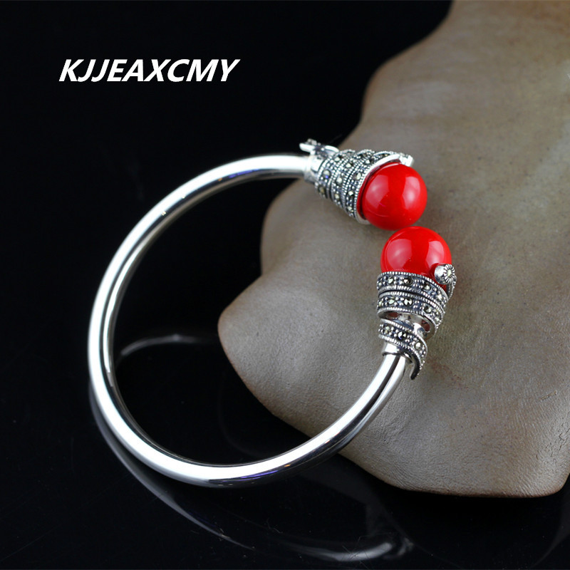 KJJEAXCMY Thai silver jewelry S925 Silver Opening Ms. Huang Yusui grass coral bracelet rhyme thai silver wholesale s925 silver inlaid huang yusui red zircon pendant female models simple new atmosphere