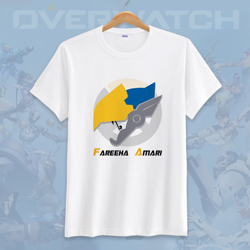 Anime Game Overwatches 3D Printed T-Shirt Tights OW D.VA/Tracer/Mercy Cosplay  Summer Top Tee Slim Casual Short Sleeves 1