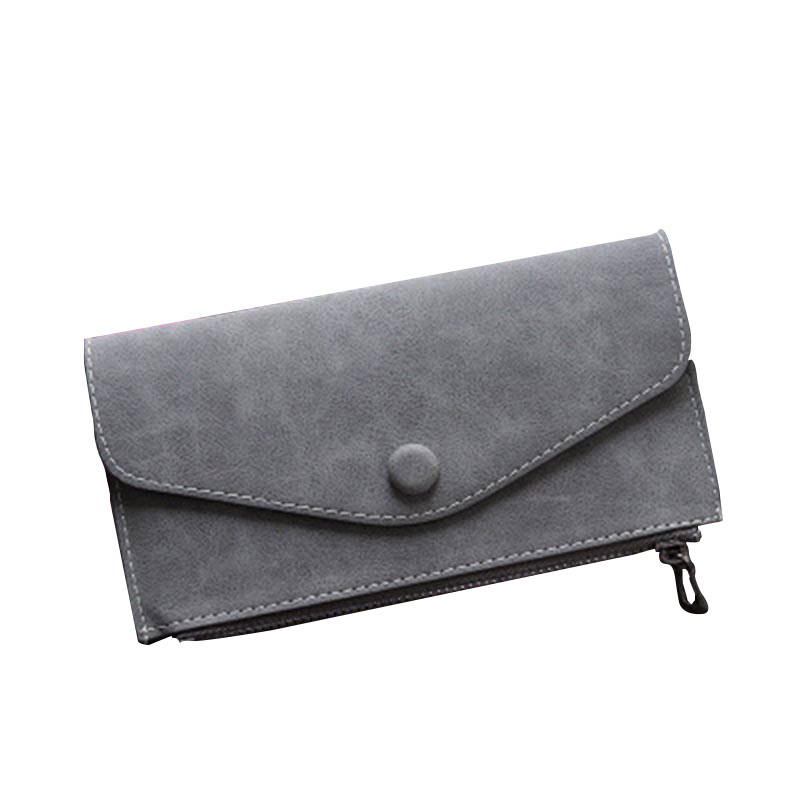 Hot sale fashion high capacity women wallets girl casual long clutch zipper phone wallet female credit card holder leather purse
