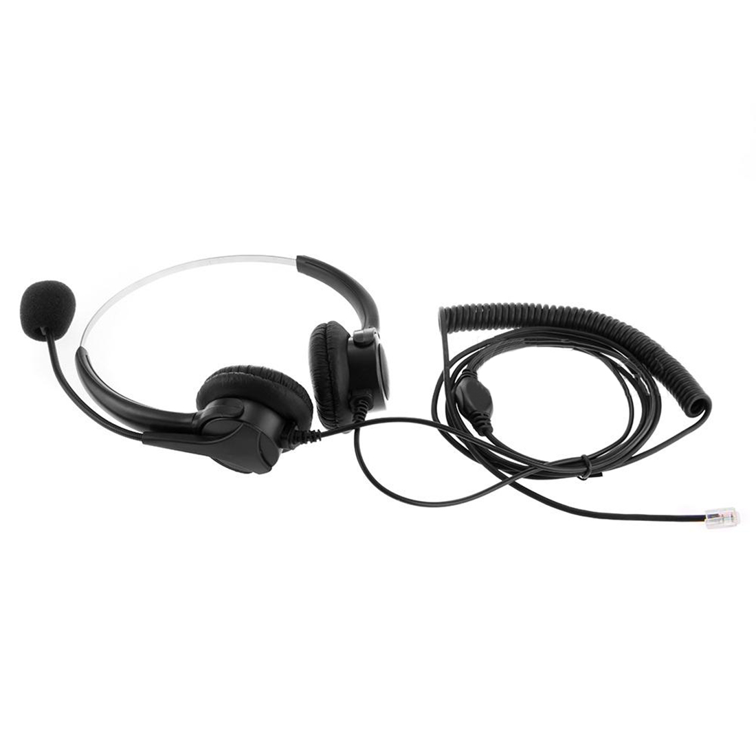 Marsnaska Brand New 4-Pin Call Center Corded Operator Telephone Headset High Quality Headphones with Microphone