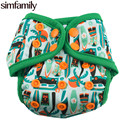 [Simfamily] 1 UNID Reutilizables Cubierta Del Pañal Impermeable Recién Nacido Doble Cartelas Colorido Broche de Presión, Ajuste 3-5kgs & 0-3 Meses, venta al por mayor