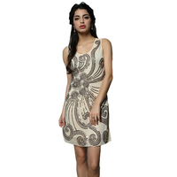 Hot Sell New European And American Women S Sexy Vest Dress Fashion O Neck Embroidery Sequined