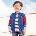 Cool and Cute Winter Children's Boys Top Clothing Children Solid Cotton Long-Sleeved Cardigan Fleece Letter Sweater