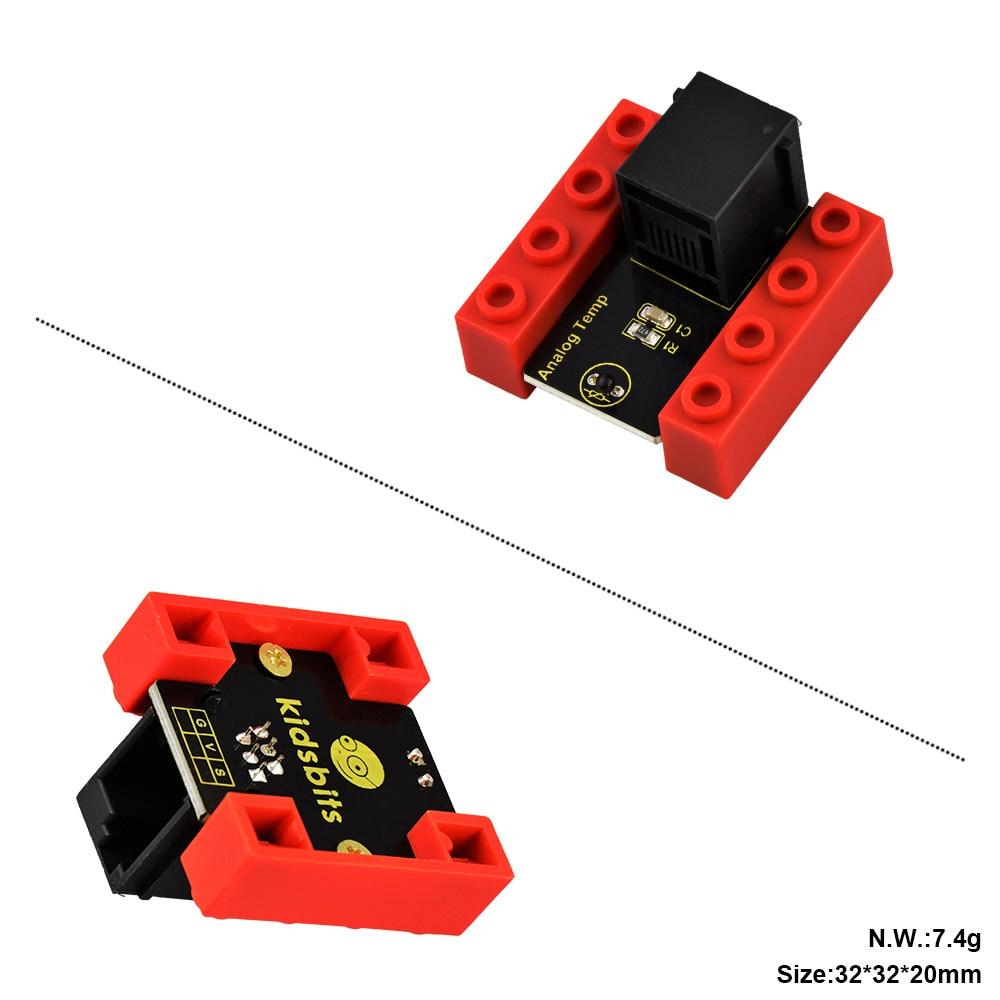 Image 2 - Kidsbits блоки кодирования аналоговый датчик температуры модуль для Arduino пара EDU (черный и экологически чистый)-in Доски для показов from Компьютер и офис on AliExpress - 11.11_Double 11_Singles' Day