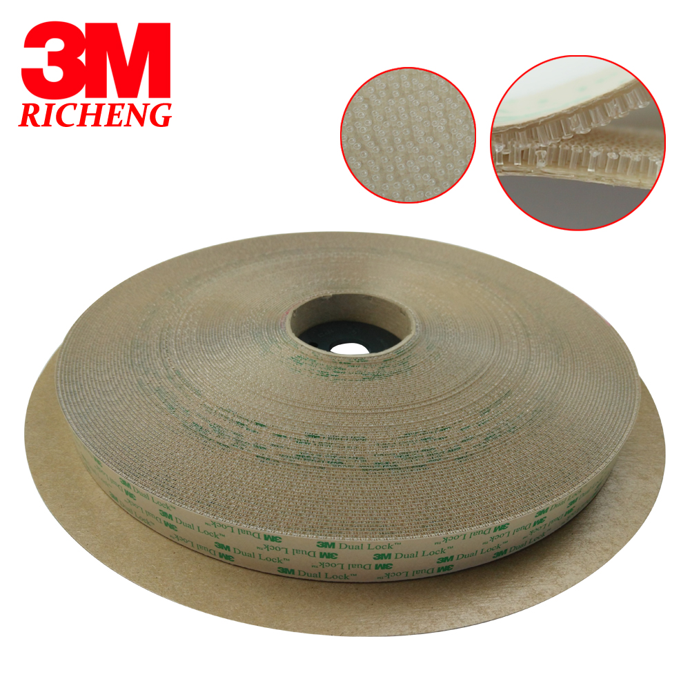 3M SJ4570 Dual Lock Transparent Tape Double Sided 3m Self Adhesive  Tape Reclosable Fastener Die Cut 1in * 2in 850 Pcs DHL