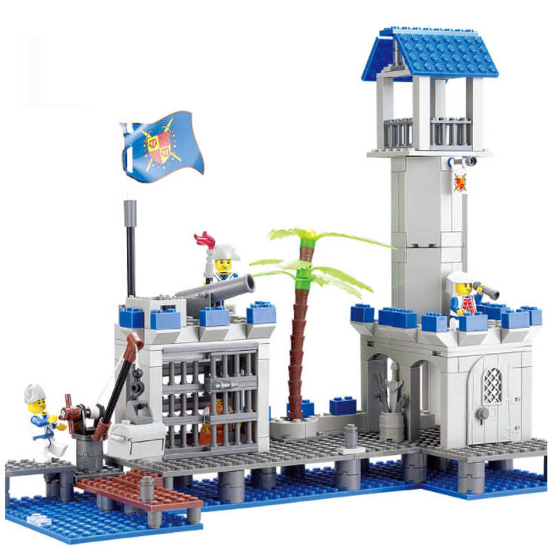 LWKO Costruzione Mattoni educativi Building Blocks Compatibile pirati Navy Headquaters Enlighten Giocattoli Per I Regali Dei Bambini