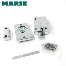 Zinc Alloy Bathroom Hardware Fittings Toilet Cubicles Indicator WC Door Lock Thumb Turn Knob