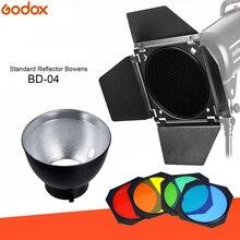 Godox BD-04 дверь сарая сотовая сетка 4 цвета фильтр + Bowens крепление отражатель для студийной вспышки