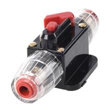 40A interruptor de Circuito Inline Portafusibles de Audio Del Coche 12 v-24 v Sistema de Protección Negro