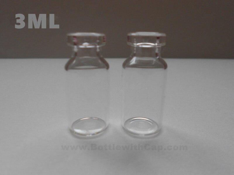 100*3ml Glass vials & flip off cap Oral liquid bottle, glass bottle,sterile powder vial