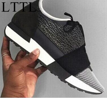 ФОТО New Breathable Multi-panel Low-top Trainers Mesh Shoes Balsen Fashion Unisex Lovers Casual Shoes Luxury Chic Lace-up Flat Shoes