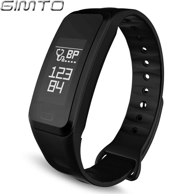 GIMTO Sport Smart Bracelet Watch Blood Pressure Heart Rate Sleep Monitor Blood Oxygen Pedometer Waterproof Clock For IOS Android gimto sport smart bracelet watch outdoor clock waterproof stopwatch heart rate monitor blood pressure pedometer for ios android