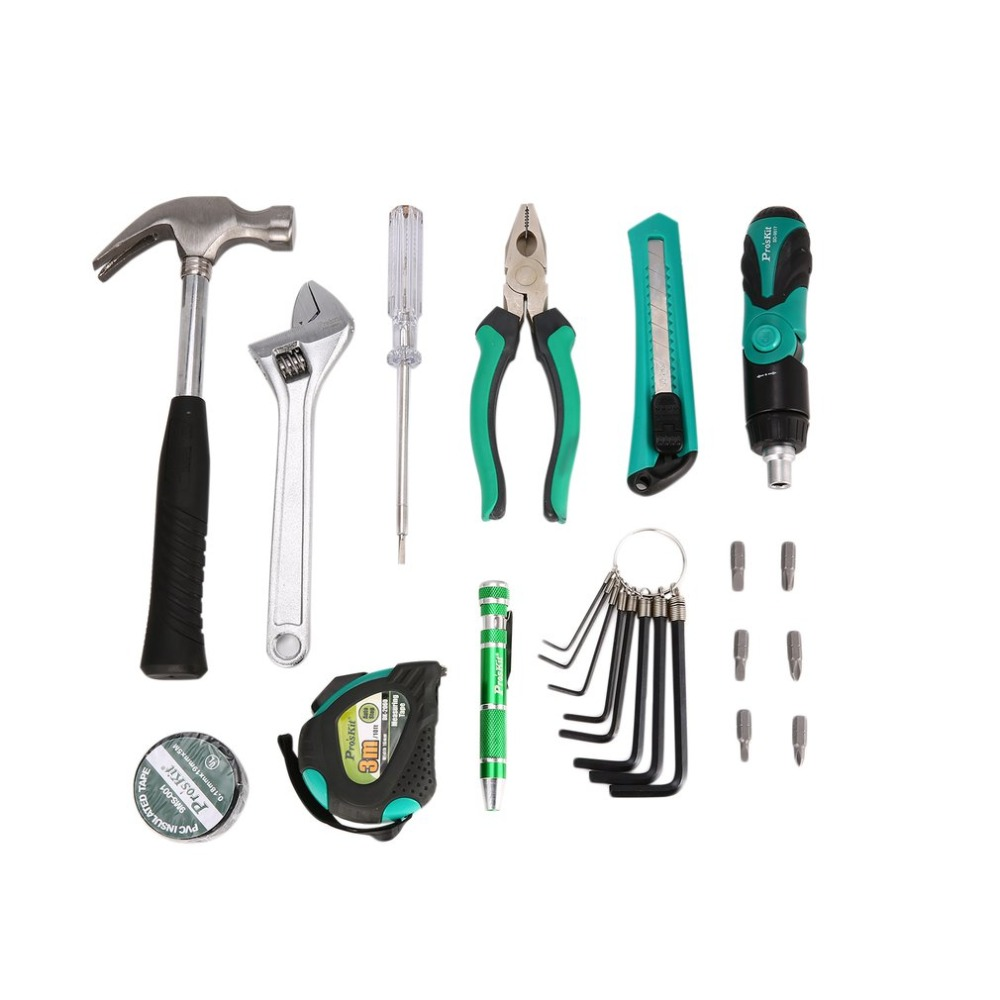 30pc Hand Tool Set General Household Hand Tool Kit Plastic Toolbox Storage Case Socket Wrench Screwdriver Knife Plier 55pcs hand tool set kit household tool kit saw screwdriver hammer tape measure wrench plier