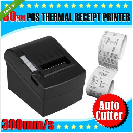 High Speed POS Thermal Receipt Printer 80mm Auto Cutter USB/Ethernet 300mm/s_DHL 300 mm s print speed black 80mm pos thermal receipt printer auto cutter cut windows2000 xp vista 8 10 linux usb ethernet