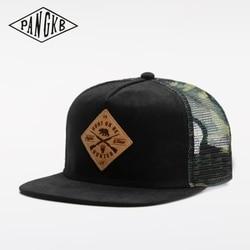PANGKB Brand HUNTING CAP summer breathable mesh hip hop snapback hat for men women adult outdoor casual sun baseball cap bone