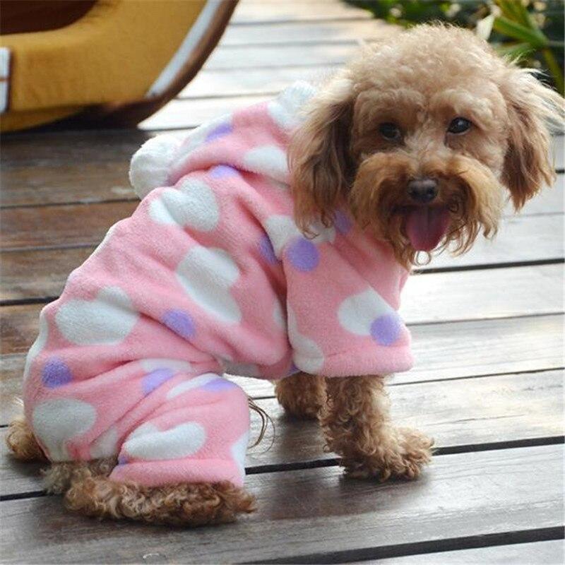 ヾノAmour Coeur Hoodie Animal Polaire Vêtements Chien Chat - Carrelage salle de bain et tapis rafraichissant chien