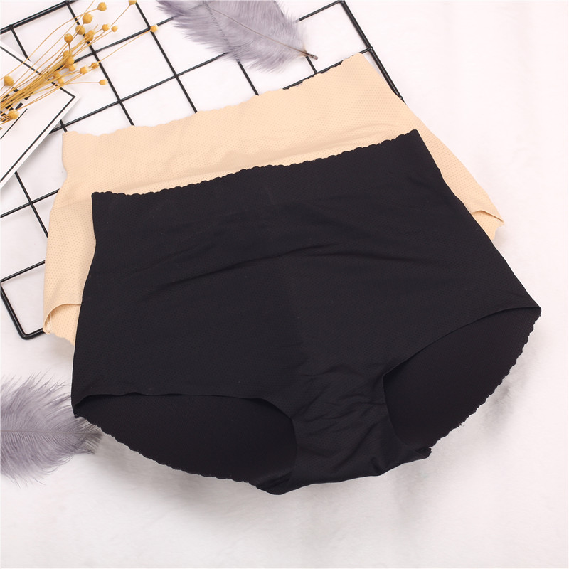 Sexy Womens Padded Panties Seamless Bottom Sponge Push Up Middle Waist Butt Enhancer Hip Push Up Butt Lift Shaper Lady Briefs